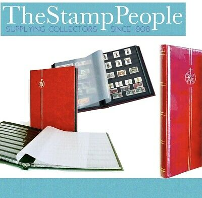 *NEW** ⭐️ STAMP STOCKBOOK ALBUM - Red A4 Size - 16, Black Pages (8 Double Sided)