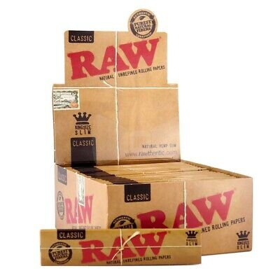 Raw Classic Kingsize Rolling Papers Full Case x 50 Booklets Free Delivery