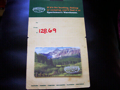 Gift Card Sportsmans Warehouse $128.69 Sporting Goods Camping Fishing Gear Yeti