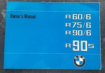 Owner's Manual Book Bmw R60/90s