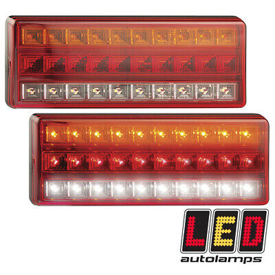 LED AUTOLAMPS 275ARW Pair LARGE Rear Light STOP TAIL INDICATOR REVERSE 12v 24v