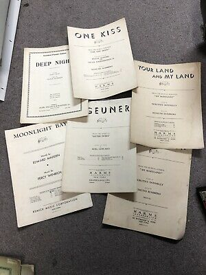 Deep Night by R Vallee & C Henderson vintage Sheet Music and more - 6 total -
