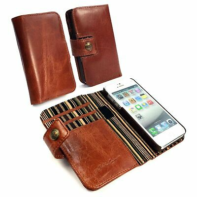Alston Craig Vintage Leather Wallet Block Magnet Case Cover for iPhone 5/5S/SE