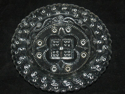Antique Sandwich Glass Toddy Plate Dish Lee 800-A Toddy Plate