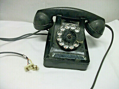 Vintage Western Electric Telephone Rotary Dial Phone Black AS IS Bell Systems