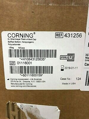 Corning 2L Baffled Polycarbonate Erlenmeyer Flask with Vent Cap 6/case 431256