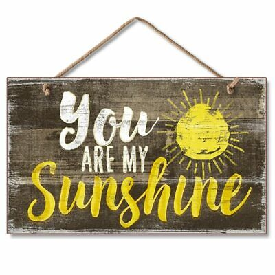 """YOU ARE MY SUNSHINE Wood Hanging Sign 5.75"""" x 9.5"""""""