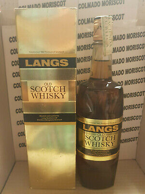 LANGS OLD SCOTCH WHISKY 43º G.L. 75 CL - BOXED - 60s - Spanish Import Tax