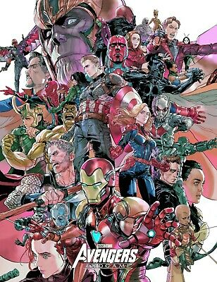 Avengers End Game Large Comic Poster Frame Canvas 20X30 Glossy Photo Paper 24X36