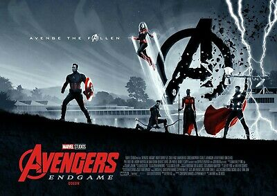 Avengers End Game Large Movie Poster Banner Canvas 36X25 Photo Paper 36X25