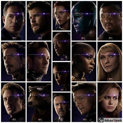 Avengers End Game Marvel Avenge The Fallen Movie Poster All 32 Canvas or Poster
