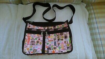 LESPORTSAC PINK DELUXE EVERYDAY BAG 'POODLE PARK' Large, Many Pockets/Uses~CUTE!