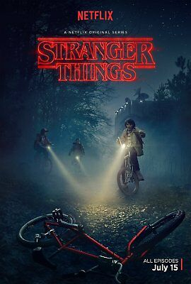"Stranger Things - Netflix - Large Movie Poster - 24""x36"" Superheros"