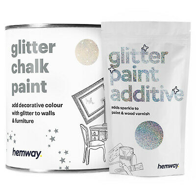 Hemway Glitter Paint Cream Magnolia Walls Ceilings Furniture Wallpaper Emulsion