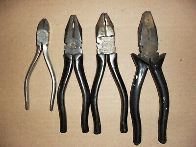 ELLIOT LUCAS PLIERS x 4 MADE IN ENGLAND: VINTAGE TOOLS
