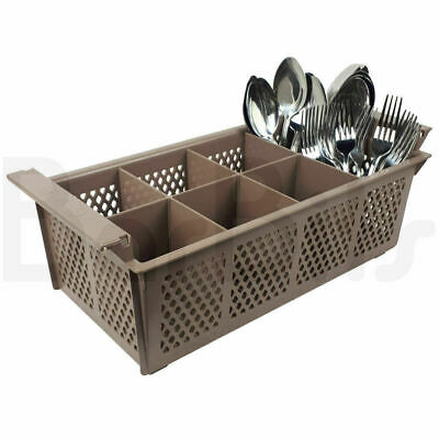 BarBits Plastic Cutlery Basket 8 Compartment - For Catering Dishwashers Rack