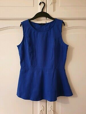 Ladies Size 12 New Look Blue Top Great Condition