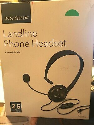 Home Telephone Headsets Insignia Landline Phone Handset Reversible Mic With Rj9 Connection Black Consumer Electronics Vibranthns Lk