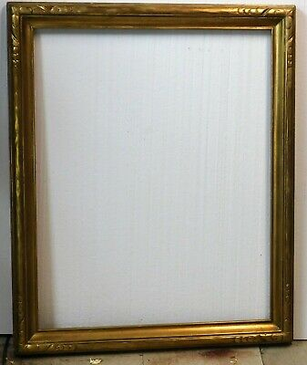 Vintage carved gold leaf frame fits 24 x 30 painting