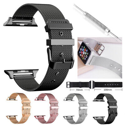 For Apple Watch Series 3/2/1 38mm 42mm Stainless Steel iWatch Wrist Band Strap