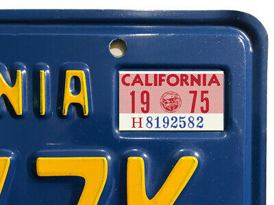 ONE* 2019 CALIFORNIA DMV CA Blue License Plate Registration