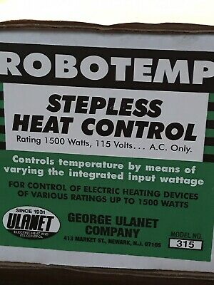 ROBOTEMP Model 315 Stepless Heat Control  - New