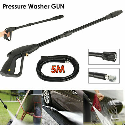 High Pressure Washer Spray Gun + 5m Washing Hose Kit For Car Jet Lance Wash New