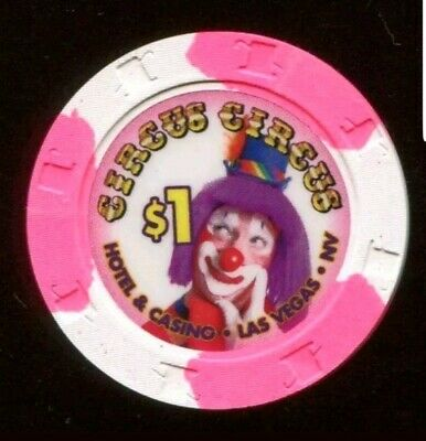 Circus Circus Hotel Casino Las Vegas $1 Chip Uncirculated Rare Mint Chip