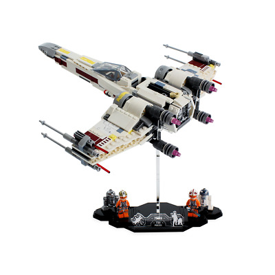 Display stand for LEGO Star Wars: X-Wing Starfighter (75218)