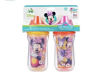 Disney Minnie Mouse Insulated Hard Spout Sippy Cups 9 Oz Baby 2pk