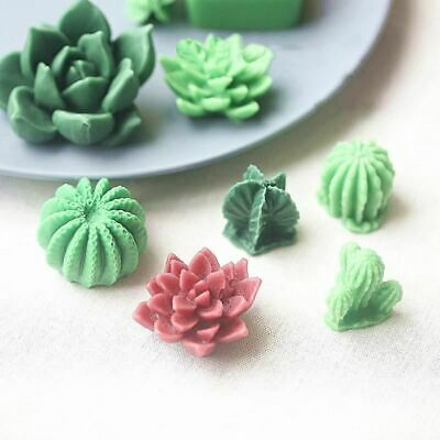 Succulent Plant Silicone Wax Candle Mold Flower Cactus Candle Mould DIY Handmade