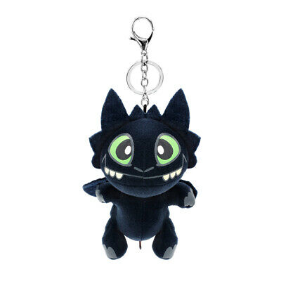 How to Train Your Dragon Night Fury Toothless Plush Keychain Keyring Soft Doll