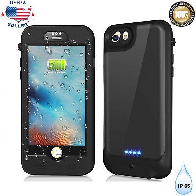iPhone 6s7/8 Plus Waterproof Rechargeable Battery Charger Case External Cover US