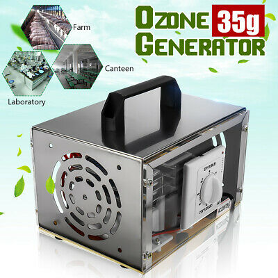 220V 35000mg/h Ozone Generator Machine Air Purifier Indoor Mold Mildew