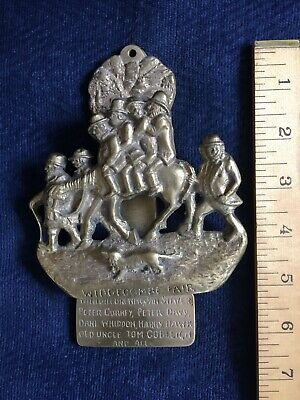 'WIDDECOMBE FAIR' Solid Brass Door Knocker
