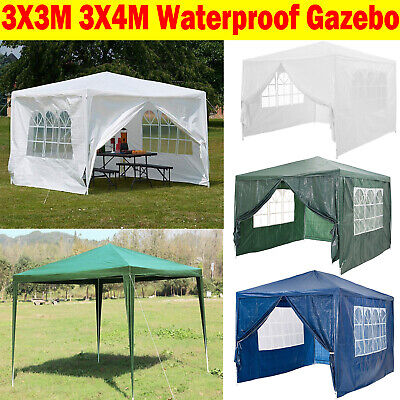 Gazebo Waterproof Tent Marquee Awning Outdoor Canopy Side Panels 3x3m 3x4m Cheap