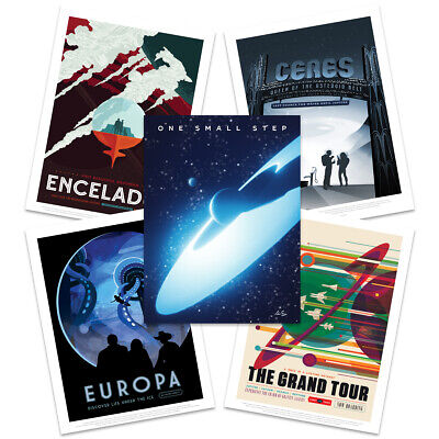 NASA Space Grand Tour Travel Exploration Exoplanet Wall Art Poster Pack of 5