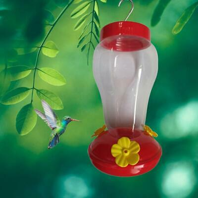 Hummingbird Plastic Feeder For Outdoor Bird Nectar Red Stations Easy Cleaning