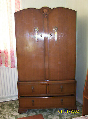 Antique Tallboy With Drawers And Shelves
