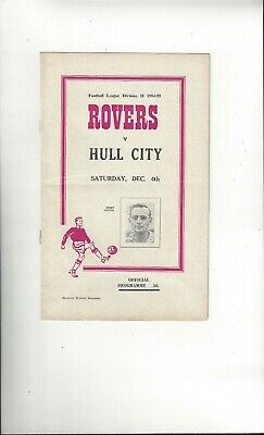 Doncaster Rovers v Hull City Football Programme 1954/55