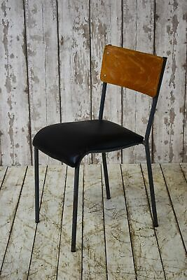 Vintage Industrial Stacking Cafe Bar Restaurant School Chair (45 Available)