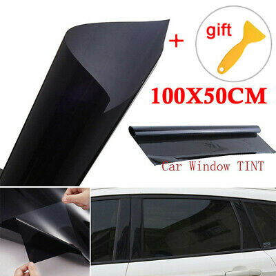 Black Car Home Window Sticker Tint  20%VLT Glass Film Foil Decal Privacy Sheet