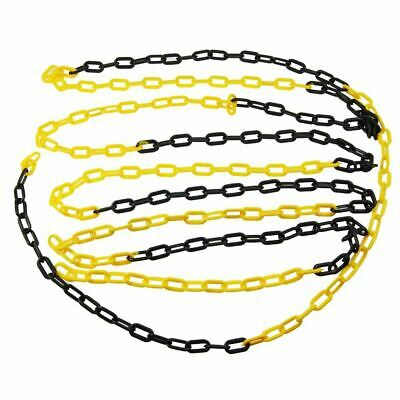 Black and yellow barrier Plastic Chain 5mm 25meters