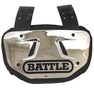 NEW Battle Youth Back Plate Football Chrome Fits Youth Shoulder Pads