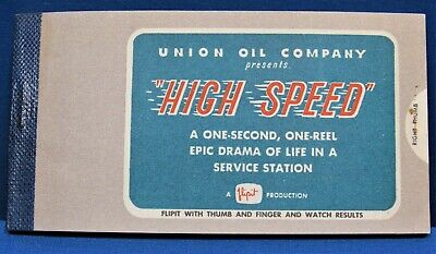 "Union 76 ~ Flip Book Promo ""Give-A-Way"" ~ 1950's Old Logo ~ Union Oil Company"