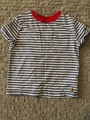 Baby Boys Infant Gap T-shirt Blue White Stripes 12-18 Months