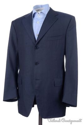 CANALI Recent Blue Solid Micro Herringbone Wool Blazer Sport Coat Jacket - 42 R