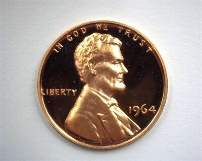 1964 Lincoln Memorial Cent Perfect Proof Deep Cameo