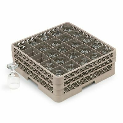Traex TR6BB Beige 25 Compartment Glass Rack with 2 Extenders