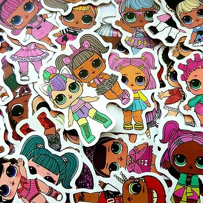 LOL dolls Stickers LOL Surprise Dolls Printed Self Adhesive Vinyl  PVC Labels